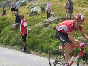 Lars Bak del Team Lotto Soudal in fuga
