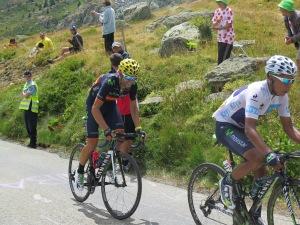 Nairo Quintana all'attacco con Alejandro Valverde del Team Movistar