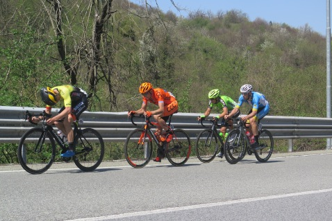 Fuggitivi: Mateusz Taciak (CCC Sprandi Polkowice), Fernando Barcelo Arangon (Euskadi-Murias), Enrico Salvador (Carrera Gavardo) e Filippo Fortin (Felbermayr Simmplon Wels).